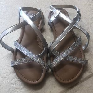 Silver justice sandals
